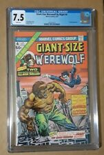 Giant-size Werewolf  4  Cgc 7.5  WHITE Pages