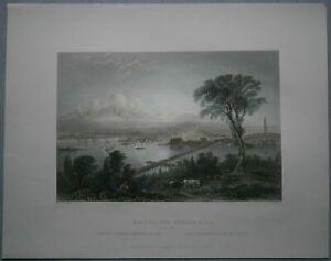 1839 Bartlett print BOSTON AND BUNKER HILL (#12)