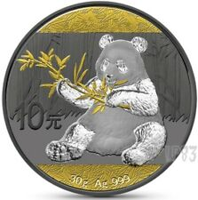2017 1 Oz Silver CHINA PANDA, RUTHENIUM And GOLD Coin W/ Coa and Blister.