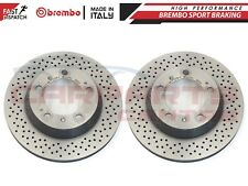 FOR PORSCHE BOXSTER CAYMAN REAR GENUINE CROSS DRILLED BREMBO BRAKE DISCS 299mm