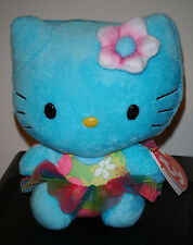 Ty Beanie Baby ~ HELLO KITTY (Turquoise) ~ 2014 Release ~ MINT with MINT TAGS