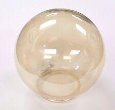 "NEW Clear Amber GLASS BALL 6"" Dia 3.25"" Fitter LaMp LigHt GLoBe GlaSsWaRe ShAdE"