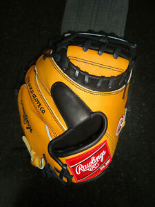 "RAWLINGS HEART OF THE HIDE (HOH) PRO ISSUE PROCM33BUBPRO CATCHERS MITT 33"" RH"