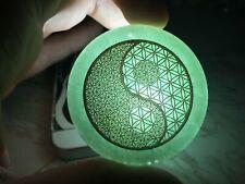 Green Aventurine Flower Of Life Crystal Yin Yang Pendant