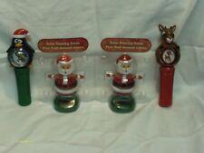 Solar Santa's (2) & lighted spinners 1 Penquin 1 Reindeer
