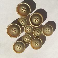 178 Designer Knöpfe Polyester matt beige meliert, drei Größen von Union Knopf