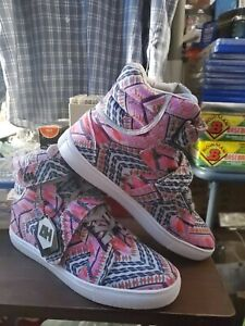 Android Homme Shoes Propulsion Hi Pepto Pink/Gray/White Sneakers Size 9 Native
