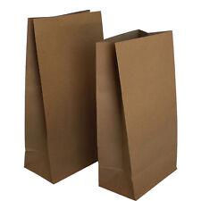 100 -Large Brown Kraft Flat Bottom Bags Large Gift Bags Gift Favour Flat Bottom