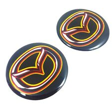 New resin car wheel center caps for Mazda 45 mm Logo Badge Decal Emblem Stickers