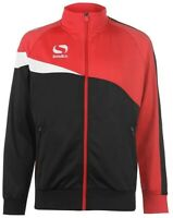 Sondico Spirit Mens Track Jacket Red Full Zip Stylish Sports Coat Football Run