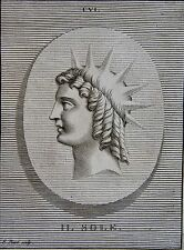 LE SOLEIL . PORTRAIT, GRAVE PAR PICART,  GRAVURE ORIGINALE DE 1731