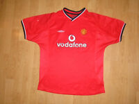 Manchester United shirt 2000-02 for 12-13 years, Umbro, VGC - UK FREEPOST