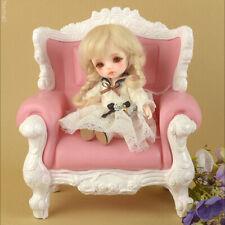 [Dollmore] BJD sofa 1/4 Scale MSD Size Rococo Chair (Pink/White)