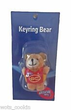 AFL Gold Coast Suns 5cm Teddy Bear Keyring Bagtag Key Ring Bag Tag Official AFL