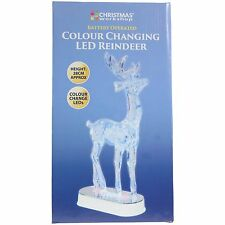 New Reindeer Christmas Decoration LED with Color Changing Lights Xmas Table 28cm