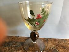 Set of 6 Xmas Glasses, Wine, Cocktail, Tinted, Great Shape, Christmas Specialty