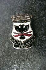 CURLING CLUB  LANARK (SHIRE) ENAMEL BADGE VINTAGE , LONDON MAKER TOYE