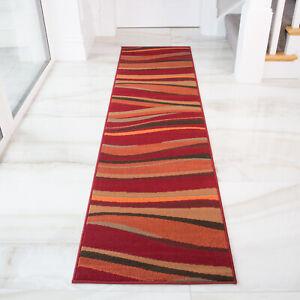 Terracotta & Red Runners Long Narrow Hallway Runner Cheap Rugs For Hall NEW