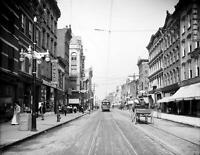 "Main Street Poughkeepsie NY Early 1900's 8.5"" x 11"" REPRINT Photo - Trolley"