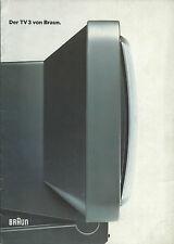 Braun TV3 / HiFi Katalog Prospekt (2)