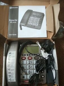 Amplicom Powertel 49 Plus Telephone Amplified Hearing Assistance Senior