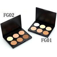 6 Colors Makeup Face Contour Powder Concealer Bronzer Highlighter-Palette & C2N1