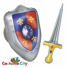 Medieval Knight Sword & Shield Inflatable Props Fancy Dress Party Accessories