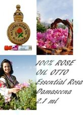 100% Pure Natural Bulgarian Rose Essential Parfume Rosa Damascena OIL 2.1ml OTTO