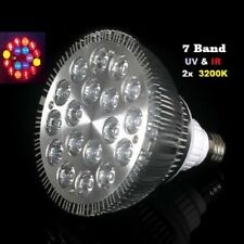 54W LED Grow Pflanzen Lampe Licht 7 Band Voll Spektrum E27 Full Spectrum 18x3W