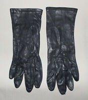 Vintage Ladies Dress Gloves Black Leather Nylon Lined M Philippines