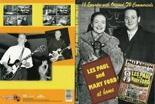LES PAUL & Mary Ford At Home 10 Episodes Original Guitar DVD Digi