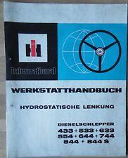IHC Schlepper hydr Lenkung 433 533  633  554  644  744  844  844 S Werkstattbuch
