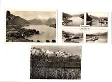 CPSM 74 Haute-Savoie Lac d'Annecy Lot de 3 cartes