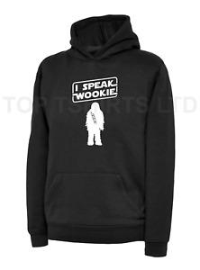 Kids I SPEAK WOOKIE Black Hoodie FUNNY Star Wars Chewbacca Hooded Sweatshirt