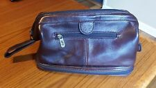 APC AmeriLeather Doctor Bag Brown Distressed Leather Mens Travel Case Dopp Kit