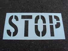 "24"" Stop Stencil. Parking Lot Stencil 12"" Wide Letters Nicely spaced 1/16"" Ldpe"
