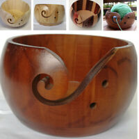 Wooden Yarn Bowl for Hand Made Wood For Knitting And Crochet Yarn Storage