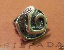 SILPADA OXIDIZED STERLING SILVER SWIRL RING R1927 SIZE 5 Retired