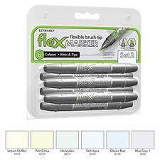 Letraset FlexMarker 6 Pen Set - Set 2 - Flex Markers