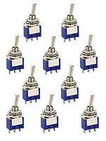10 Miniatur Kippschalter Schalter 3 polig  1 x UM  EIN/EIN od. EIN/AUS