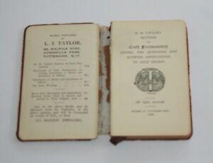 Masonic M.M.Taylors Sections 1908 edition  (STFH)