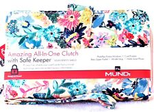WALLET Mundi Women ALL IN ONE Faux Leather Cards Ladies RFID Clutch Floral I905X