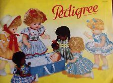 VINTAGE 1958 COLORI TRIANG PEDIGREE Bambole catalogo
