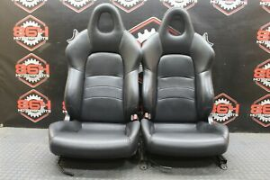 2000 HONDA S2000 AP1 OEM FACTORY LH RH BLACK LEATHER SEATS S2K #44