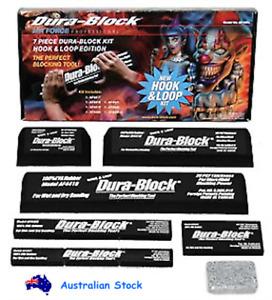 Dura-Block AF44HL Hook & Loop Black Sanding Block Sandpaper Kit for Cars