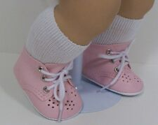 "LT PINK Baby or Toddler Doll Shoes For 15"" Bitty Baby Girl Twin (Debs)"