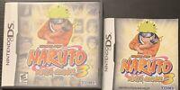 Shonen Jump Naruto Ninja Council 3 (Nintendo DS, 2006) Case & Instructions ONLY