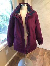 Lands End Women's Coat Purple Size Large 14/16 parka