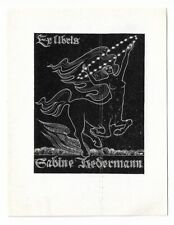 VITAUTAS JAKSTAS: Exlibris für Sabine Hedermann, Kentaur