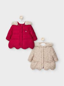 New Baby Girls Mayoral Reversible Jacket , Age Newborn, (2460)